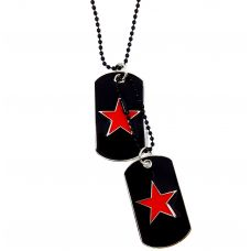 Vitruvian Red & Black Designer Dog Tag