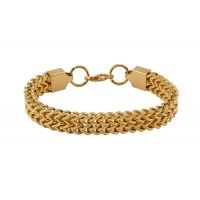 Gold Plated 316L Stainless Steel Box Chain Bracelet for Men