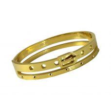 Buckle Lock Look Designer Gold Foamed Kada W/ Openable Lock for Men