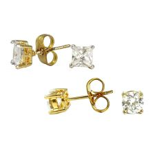 Combo of Two Gold Foamed AD Studs for Men