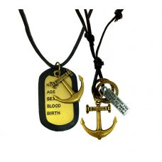 Combo of Two Anchor Necklaces for Men
