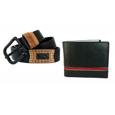Combo of Uber Look Genuine Leather Wallet and Belt for Men