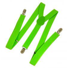 Neon Green Unisex Party Suspenders
