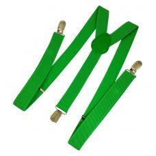 Parakeet Green Suspenders for Men