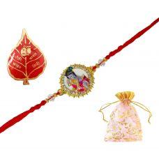 AMVRKI62-Bal Gopal Badge Attractive Rakhi