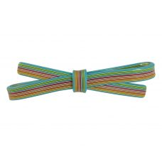 10 mm Multicolur Straight Swatches Pattern Sleek Bow Blue Hair Clip for Women