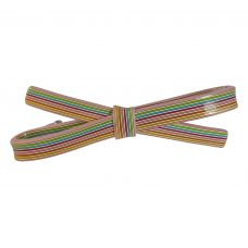 10 mm Multicolur Straight Swatches Pattern Sleek Bow Pink Hair Clip for Women