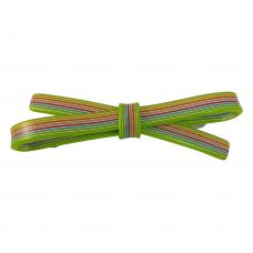 10 mm Multicolur Straight Swatches Pattern Sleek Bow Green Hair Clip for Women