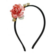 Diva Delightful Life-Like Rose and Multi Charms Exclusive Hair Band for Women