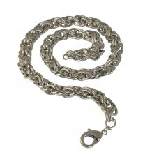 Interlaced Rope Pattern High Quality 316L Stainless Steel Chain Necklace for Men