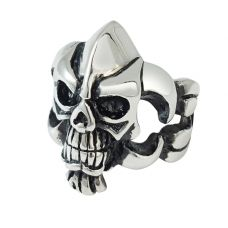Skull Regime 316L Stainless Steel Bold and Chunky Statement Ring for Men
