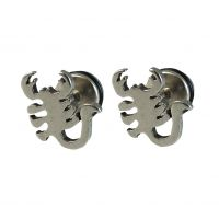 5 mm Scorpion King Pair of Stainless Steel Stud Earring for Men