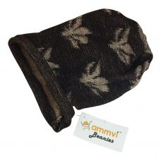 Brown-Peach ''High Life'' 100% Acrylic Beanie for Men