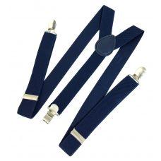Navy Blue Suspenders for Men