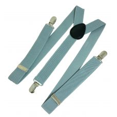 Pastel Blue Suspenders for Men