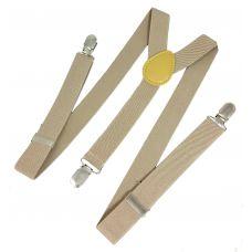 Solid Khaki Suspenders for Men