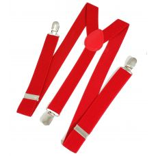 Fire Red Suspenders for Men