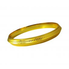 Stripes and Dots 11 mm wide Gold Foamed High Quality Alloy Bold Kada for Men
