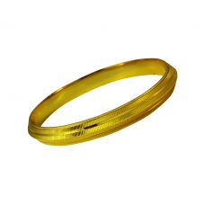 Horizontal Stripes 11 mm wide Gold Foamed High Quality Alloy Bold Kada for Men