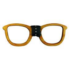 Men's Designer Wooden Bow Tie in Spectacles Frame Shape