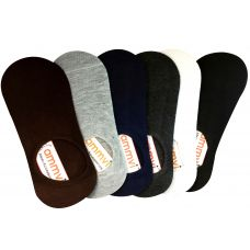 Pack of 6 Men's No Show Socks Casual Low Cut Thin Loafers Non Slip Boat Liners Socks Fit All Seasons