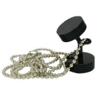 Big Black Dumbbell Pendant for Men