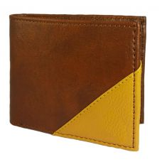High Quality Tan and Brown PU Leather Wallet for Men
