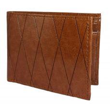 Cross Pattern Tan High Quality PU Wallet for Men