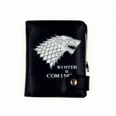 Stark Direwolf Vertical Zipper Wallet