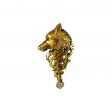 The Stark Wolf Impressive Brooch Lapel Pin Gold Foamed Polished Alloy Brooch for Men