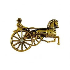 Gold Plated Chariot Exclusive Brooch Lapel Pin Shirt Stud for Men