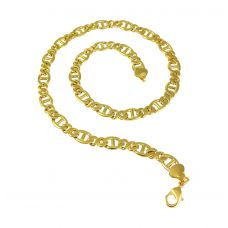 19 '' Anchor Links Exclusive Luxury Gold Foamed Necklace for Men