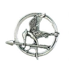 MockingJay Rodium Plated Silver Color Lapel Pin Brooch Shirt Stud For Men