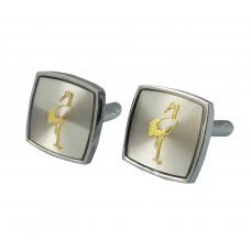 The Flamingo Grey  Cufflinks for Men