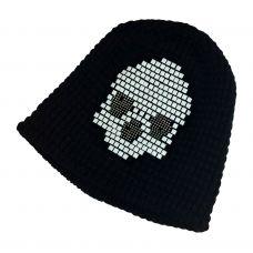 Tetris Skull Pattern Black Beanie  & skull cap / Unisex beanie