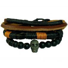 Gothic Skull Combo of Three Bracelets for Men
