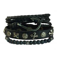 Retro Hook Set of 3 Combination Bracelet for Men