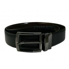 Electro-Black Finish Alloy Buckle Exclusive Double Sided Snake Pattern Genuine Leather Belt for Men