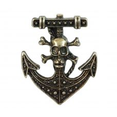 Antique Pirate Anchor Brooch Lapel Pin Shirt Brooches For Men