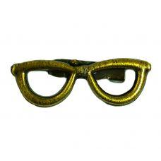 Retro Specs Frame Antique Finish Brooch Lapel Pin Shirt Brooches For Men