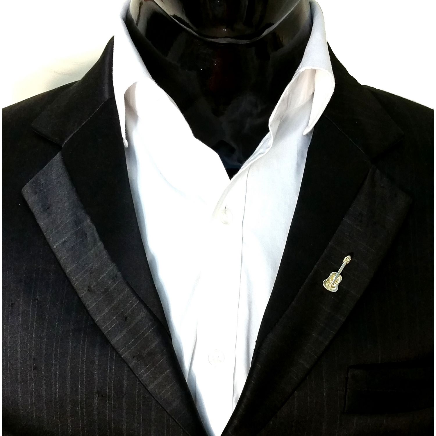 p blazer men suit in handkerchief mens faux design gray brooch