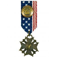 Coat of Arms Lion Sigil Medal Brooch Lapel Pin for Men