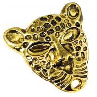 Impressive Gold Plated Jaguar Brooch Lapel Pin for Men