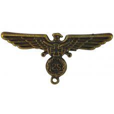 Warrior Wings Antique Finish Brooch Lapel Pin for Men