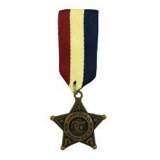 Coat of Arms Star Medal Badge Brooch Lapel Pin for Men