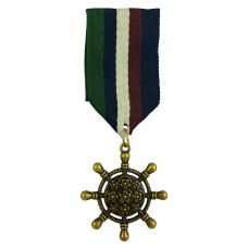 Coat of Arms Star Nautical Wheel Medal Badge Brooch Lapel Pin for Men