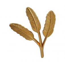 Trio Leaves Gold Plated Exclusive Lapel Pin Brooch for Men