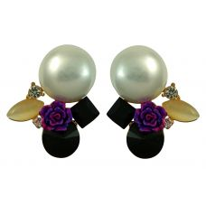 Rose and Pearl Delightful Exclusive Crystal Drop Earrings for Women