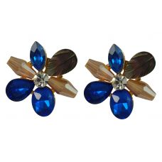 Crystal Floral Pattern Delightful Exclusive Earrings for Women