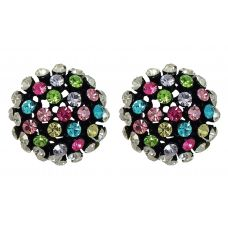 Blessed Bling Multicolor CZ  Semi-Circle Boquet Party Earrings for Women